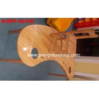 China Moon Shape Nature Wood Classroom Furniture Tables For Child Day Care Centre Use wholesale