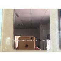 Buy cheap 304 Stainless Steel Slit Edge Plate Decorative Surface Finish Rose Golded from wholesalers