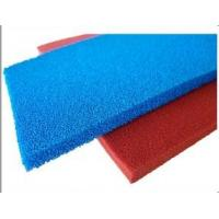 China Red Blue Silicone Sponge Sheet Food Grade Silicone Rubber Sheet Open Cell For Iron Table wholesale