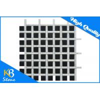 China 12 x 12 Polished Marble Mosaic Wall Tiles Black And White for Bathromm / Kitchen on sale