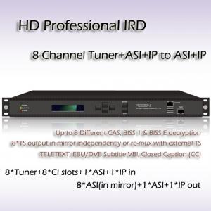 China Eight-Channel HD Professional IRD DVB-T/DVB-S2/ DVB-S/DVB-C, and ISDB-T Receiver RIH1308 on sale