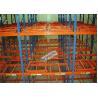 China Metal Push Back Rack Industrial Storage Shelves Racks ISO R - Mark Certificated wholesale