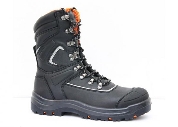 Quality Industrial work shoes waterproof steel safety shoes black leather work boots for sale