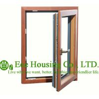 China Casement Wood Clad Aluminum Window with Insulating Double Glass For Villas,Inside Opening wholesale