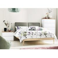 Ash Wood + MFC Modern Bedroom Furniture Sets With Fabric Bed Head 3 Years Guarantee