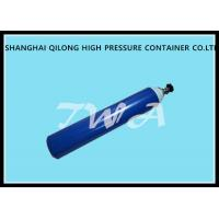 China 6L Blue Medical Oxygen Gas Cylinder / small oxygen bottle Diameter 137mm wholesale
