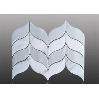 China Water Ject Marble Mosaic Floor Tile Leaf Pattern For Floor Decoration wholesale