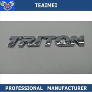 China 3D Logo Car Body Sticker Car Badge Custom Car Emblems ABS Chrome Plating wholesale
