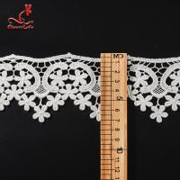 China 100% Cotton Water Soluble Flower Lace Trim For Clothing Pollution - Free wholesale