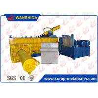 China PLC Automatic Hydraulic Scrap Metal Baler With Bale Side Push Out wholesale