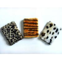 China Leopard Plush Cardboard Cover Notebook Writing Journal / Personalized Soft Cover Notebooks wholesale