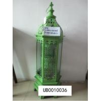 China Green Candle Holder Lantern Vintage Carved Wrought Iron Candle Holders Home Crafts Candle Lantern wholesale