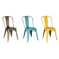 China Unique Dining Room Metal Tolix Dining Chairs Stackable Packing wholesale