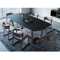 China Burning Stone Top High End Modern Dining Tables Rectangle For Home / Hotel wholesale