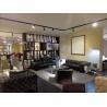 China Leather Modern Fabric Sofas , Living Room Black Adjustable Backrest Sofa wholesale