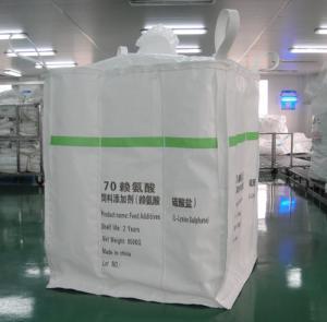 Buy cheap Le type net la tonne pp de sac de cloison d'A 1 entassent en vrac sac pour empaqueter le sulfate de L-Lysine de produits chimiques from wholesalers