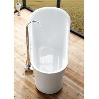 China 1 Person Elegant Acrylic Free Standing Bathtub Oval Soaking Tub Multiple Colors wholesale