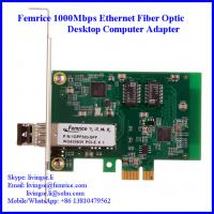 China Gigabit Ethernet NIC Card SFP Slot 1 Port Desktop Computer Network Card 1000BASE-SX Module on sale
