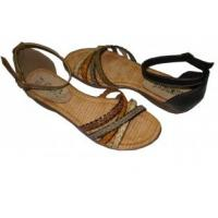 China New Designs Fashion Size 36-41 BEIGE / CAMLE / GREY / BROWN PU Ladies summer Flat Sandals wholesale