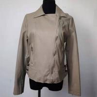 China Waterproof Fashion Ladies Jackets PU Leather Made For Spring / Autumn on sale