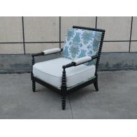China American style living room sofa chair uphostery  classic wooden sofa chair wholesale