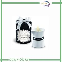 ODM Natural Decorative Round Candle Box Packaging With Tray