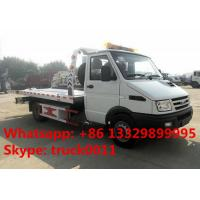 China 2017s IVECO 4*2 LHD 3tons wrecker tow truck for sale, factory sale best price IVECO brand diesel  flatbed towing truck on sale