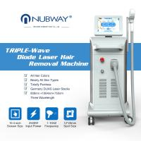 China newest 3 in 1 triple wavelength painless 808 755 1064 diode laser hair removal for all skin type wholesale
