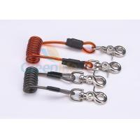 China Double Colors Coil Tool Lanyard 5.0 * 50MM Safety With Zinc Alloy Swivel Snap Hooks wholesale
