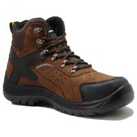 China Injection pu/pu  with steel toe cap full grain  leather safety shoes wholesale