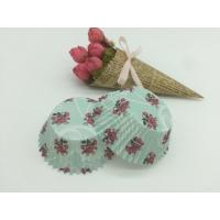 Buy cheap Navy Color Rose Pattern Paper Cupcake Liners Muffin Paper Cups Toppers Wedding from wholesalers