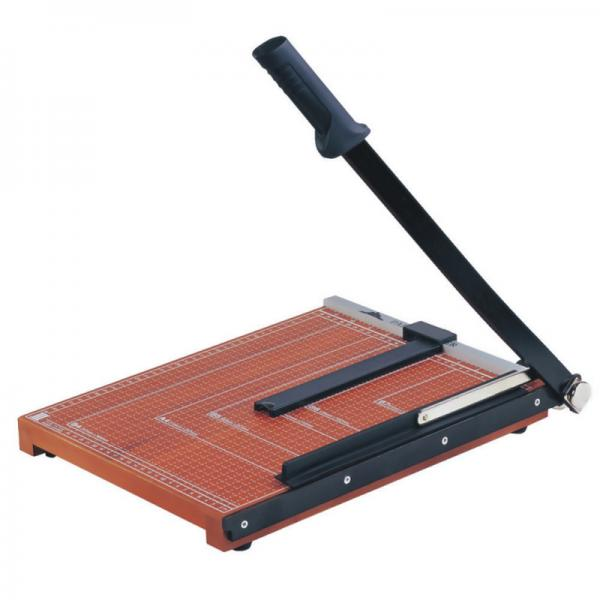 Quality Wooden Base Guillotine Manual Paper Cutter 12 Sheets Cutting Capacity NO.828 for sale