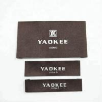 China Garment labels and tags, brand name 100% polyester fabric woven labels for clothing with wash instruction wholesale