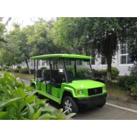 China 4 Seats Electric Sightseeing Car , Fiberglass Green Color Electric People Mover wholesale