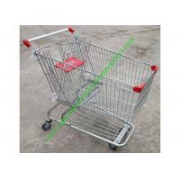 China American Style Supermarket Shopping Wire Cart / Customized Carbon steel Hand Trolley on sale