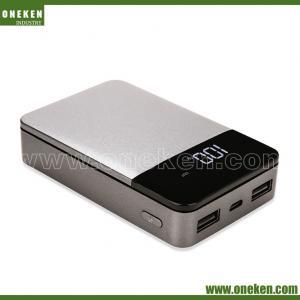 China LCD Display Mobile Power Bank 6000mAh Dual USB LED Electric Quantity 10000mAh wholesale