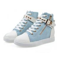 China modern fashion sneaker shoes women brand casual shoes blue wholesale