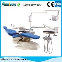 China Hot sale electrical dental chair unit with down-mounted instrument tray on sale
