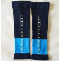 China 2017 Yiwu Summer Blue Fitness Sport Running Letters Compression Calf Sleeve Soccer Socks on sale