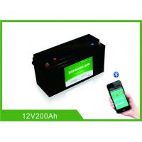 China 12 Volt 200Ah Lifepo4 Bluetooth Lithium Battery 2000 Cycles Life With Heating Film wholesale