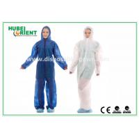 China Hooded Disposable Protective Coverall With Elastic Wrist / Ankle / Waist,with feetcover or without feetcover wholesale