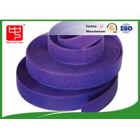 China Purple strong hook and loop adhesive tape hook and loop tape roll for garments wholesale