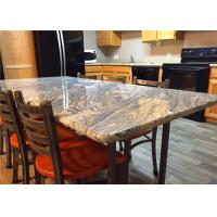 China 37 X 96 Granite Stone Kitchen Countertops With Bullnose Edges , Grey Color on sale