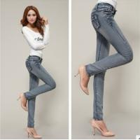 Buy cheap new fashion women snowflake fit jeans pants china factory wholesales from wholesalers