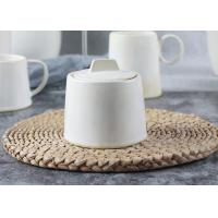 China Handmade Style Ceramic Sugar Pot / Sugar Container 300ml With Ivory Reactive Color wholesale