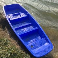 China 4M Blue Play Plastic Fishing Boat with motor for sale wholesale