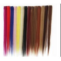 China Synthetic Fibre Hair Extensions Straight Double Drawn Human Hair Wefts wholesale