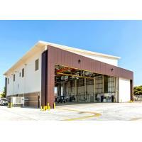 China Air Force Base Q235B Steel Hangar Buildings With 5 Ton Crane System on sale
