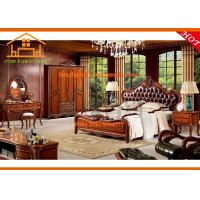 China Fancy antique luxury hand made wood carving bedroom furniture sets wholesale