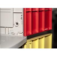 China Green 5 Tier ABS Commercial Gym Lockers , Water Resistant Safety Break Room Lockers wholesale